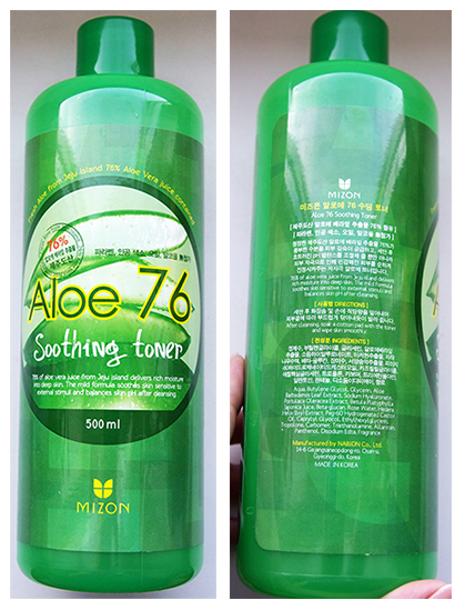 Mizon Aloe 76 soothing toner