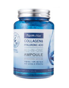 Сыворотка FARM STAY Collagen & Hyaluronic Acid All In One Ampoule